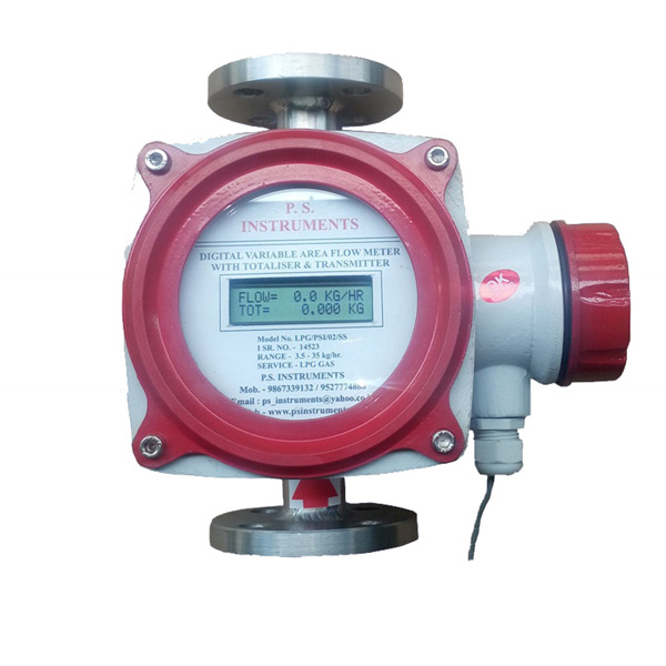 Digital Gas Flow Meter with Totaliser